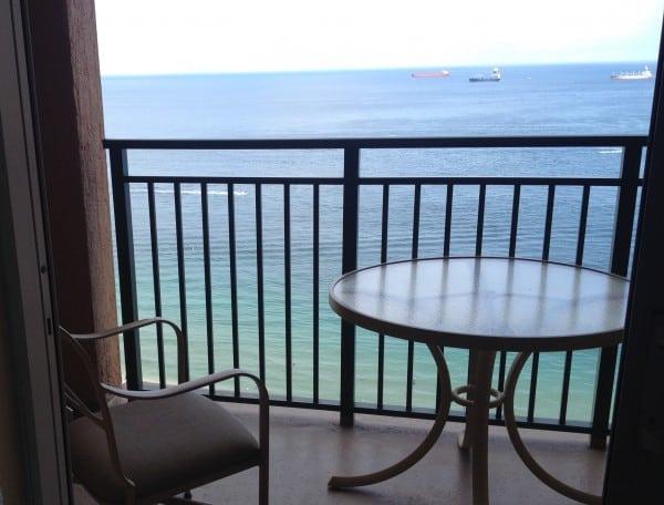 vue du balcon en Floride