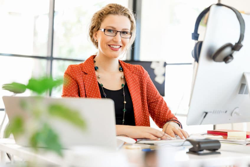 femme qui blogue
